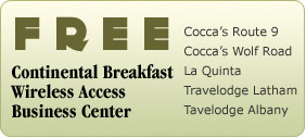 Free breakfast, wireless and business centre